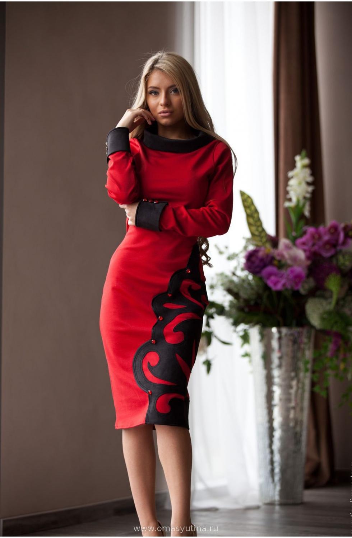 """Платье """"Художница"""" red"""