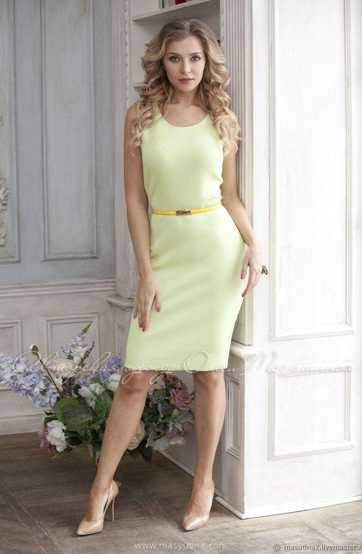 """Платье """"Базовое зеленое"""" лето, по супер цене!!!"""