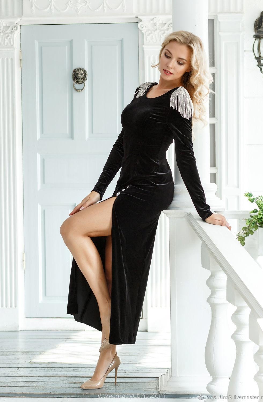 """Платье """"Черный бархат"""""""