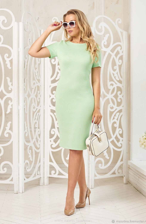 """Платье """"Деловая классика"""" светлая зелень"""
