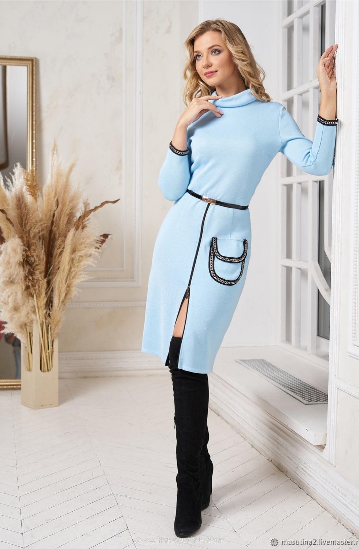"""Платье """"Динамичный образ"""" blue"""