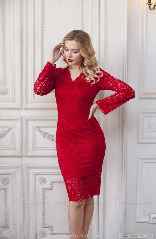 """Платье """"Красное кружево"""""""